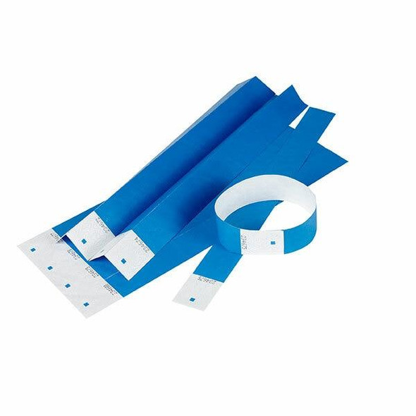 Rexel Id Serial Number Wrist Bands Blue Pack10 X CARTON of 10 9871001
