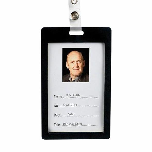 Rexel Id Coloured Plastic Card Holder P 6Pack Black 9901002