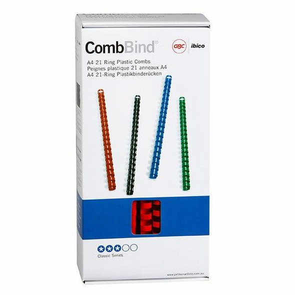 GBC Binding Comb 12mm Red Pack100 BEP12R100
