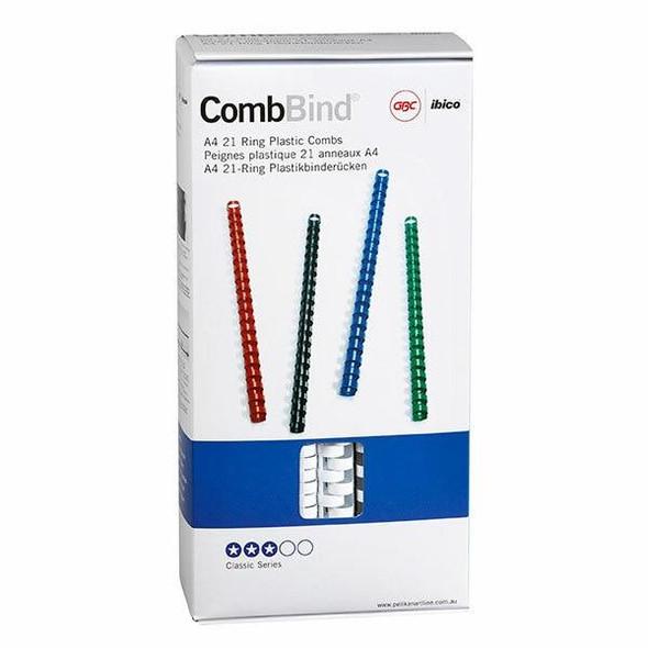 GBC Binding Comb 14mm White Pack100 BEP14W100