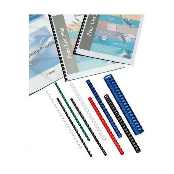 GBC Binding Comb 19mm White Pack100 BEP19W100