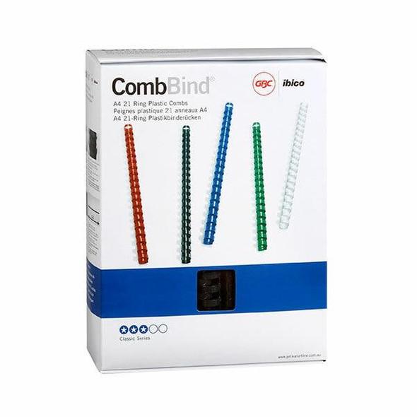 GBC Binding Comb 25mm Black Pack50 BEP25BK50