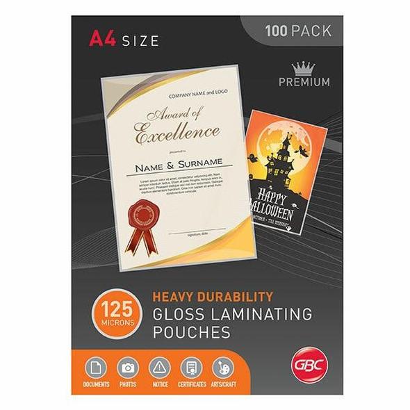 GBC Laminating Pouch A4 125 Micronron Pack100 BL125MA4