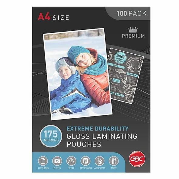 GBC Laminating Pouch A4 175 Micronron Pack100 BL175MA4