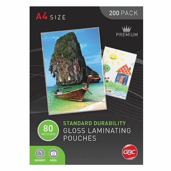 GBC Laminating Pouch A4 80 Micronron Pack200 BL80M200A4