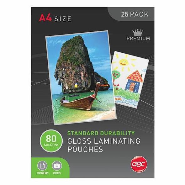 GBC Laminating Pouch A4 80 Micronron Pack25 BL80M25A4