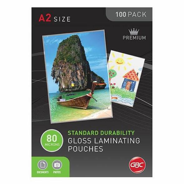 GBC Laminating Pouch A2 80 Micronron Pack100 BL80MA2