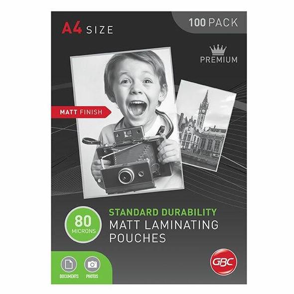 GBC Laminating Pouch A4 80 Micronron Pack100 Matt BL80MA4MATT