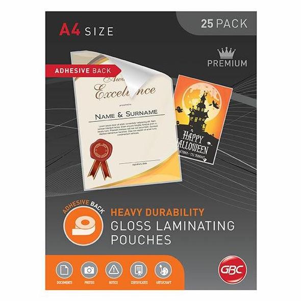 GBC Laminating Pouch A4 125 Micronron Pack25 Adhesive BLADHA4