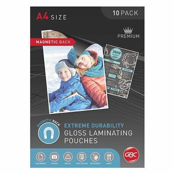 GBC Laminating Pouch A4 175 Micronron Pack10 Magnetic BLMAGA4