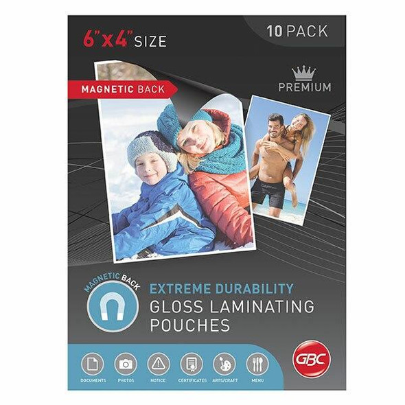 GBC Laminating Pouch Photo 175 Micronron Pack10 Magnetic BLMAGPH