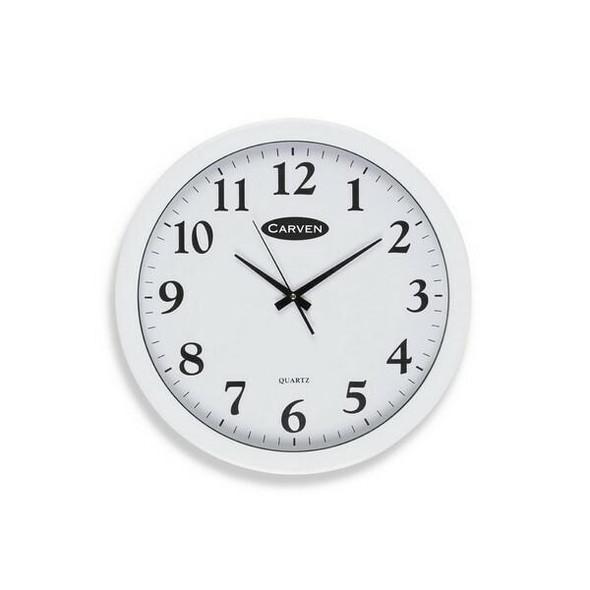 Carven Clock 450mm White Frame CL450WH