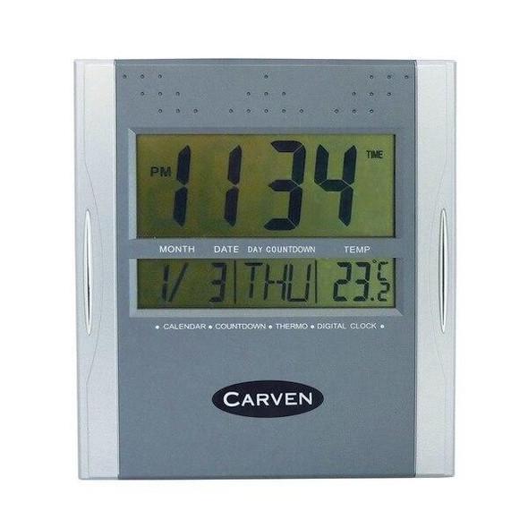 Carven Digital Clock Silver CLDIGITAL