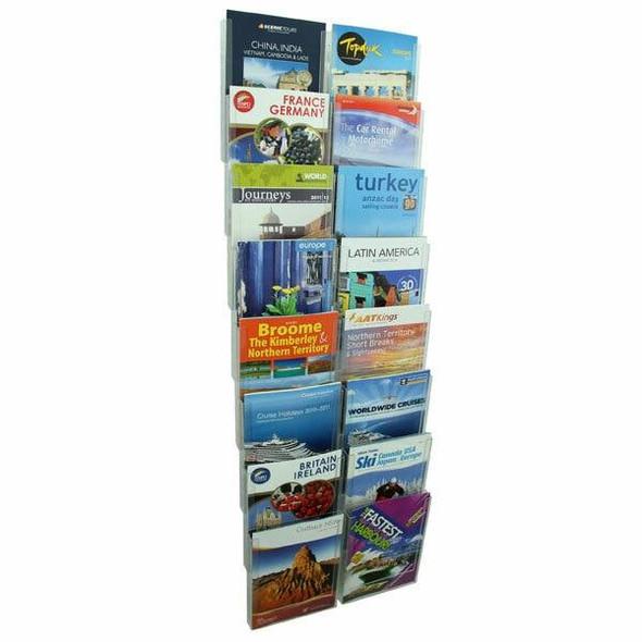 Esselte Cliplock Brochure Holder A4 8t-16 Com ESSCLIPKIT1