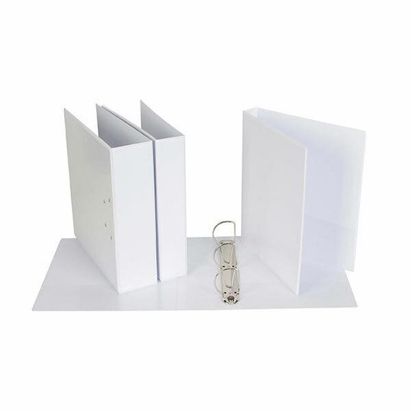 Ecowise Insert Binder A4 3d 25mm White X CARTON of 27 IB313253DWH