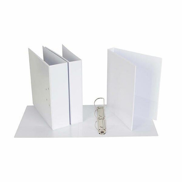Ecowise Insert Binder A4 4d 40mm White X CARTON of 16 IB313404DWH