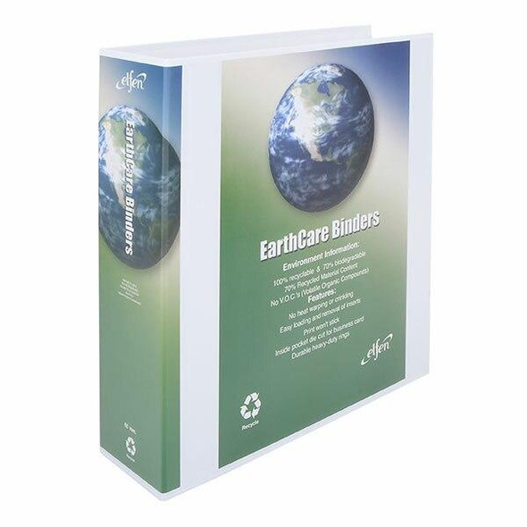 Earthcare Insert Binder A4 3d Ring 65mm White X CARTON of 10 IB813653DWH