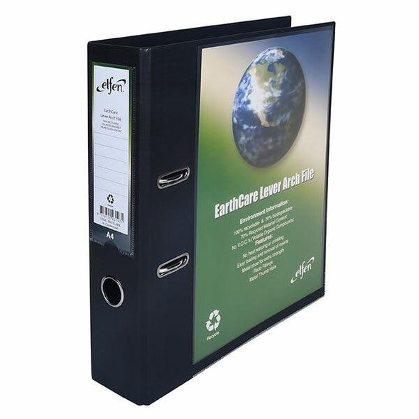 Earthcare Lever Arch File A4 Black X CARTON of 24 IB813LABK