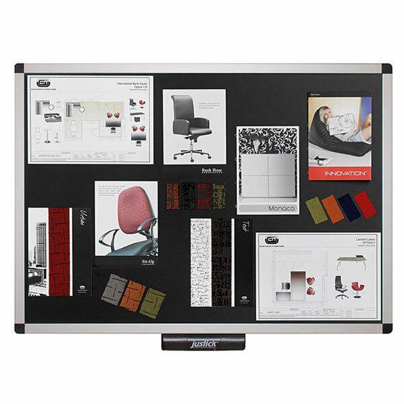 Justick Electro Adhesion Noticeboard Large Xcu Frame 900x1200mm Black JL503