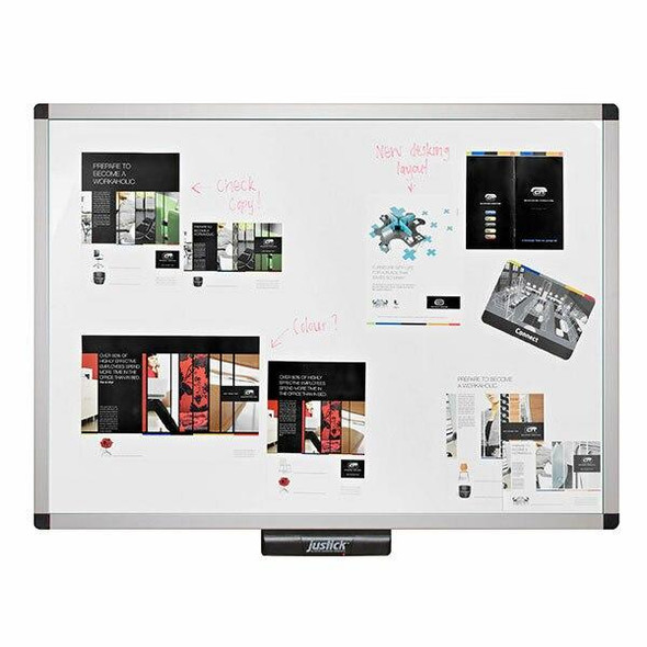 Justick Electro Adhesion White Board Xcu Frame 900x1200mm JL507