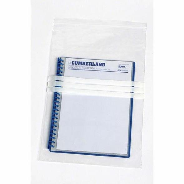 CUMBERLAND Press Seal Bags 50mic 305 X 460mm Clear/White MSB12WP