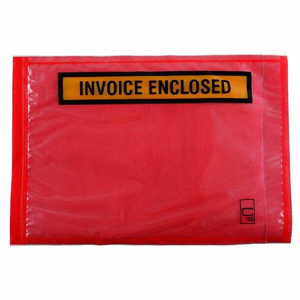 CUMBERLAND Packaging Envelope Invoice Enclosed Red 165 X 115mm Box1000 OL300IE