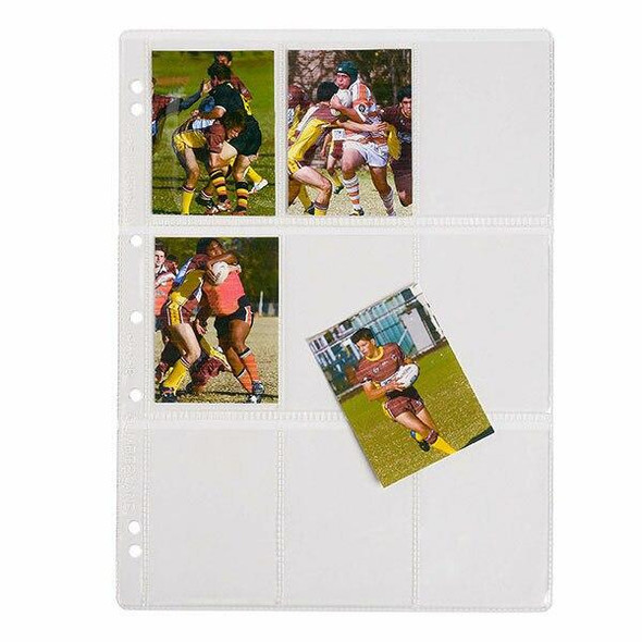 CUMBERLAND Collector Card Pocket Pvc A4 Pack10 OMCCR