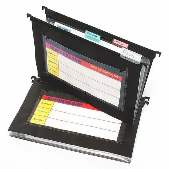 CUMBERLAND Suspension File Multi Pocket Pp Black Pack5 OT1302