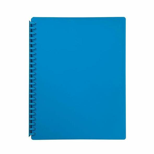 Marbig Refillable Display Book 20 Pocket Sky Blue X CARTON of 12 OTW82BL80
