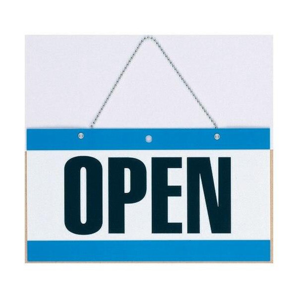 Headline Open and Close Sign With Chain 275x150mm X CARTON of 6 P8355