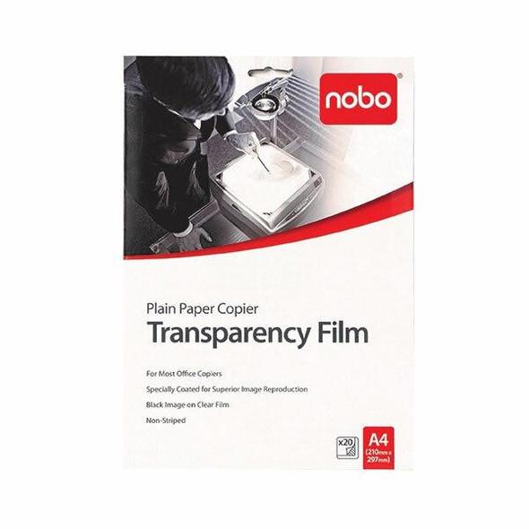 Nobo Ohp Film Plain Paper Copier Pack20 X CARTON of 10 PP100C-20