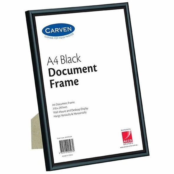 Carven Document Frame Black A4 X CARTON of 6 QFWDBLKA4
