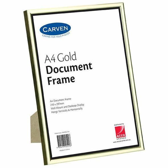 Carven Document Frame Gold A4 X CARTON of 6 QFWDGLDA4