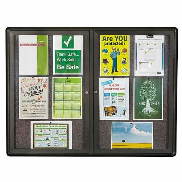 Quartet Enclosed Board Fabric 900x1200mm 2 Door QT2364L