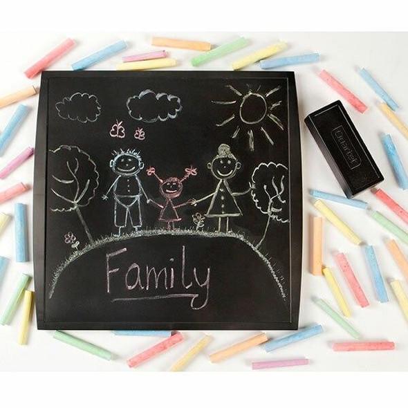 Quartet Chalkboard 300x300mm Blk X CARTON of 6 QT3030CHLK
