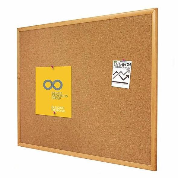 Quartet Corkboard Oak Frame 900x1200mm QT304
