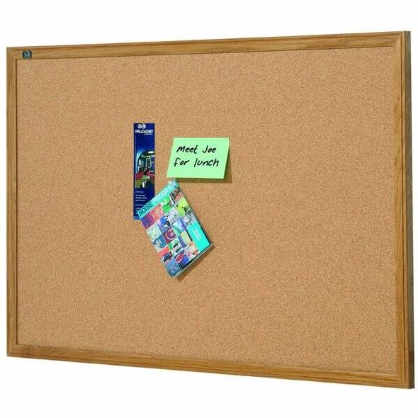 Quartet Corkboard Oak Frame 1200x1800mm QT307