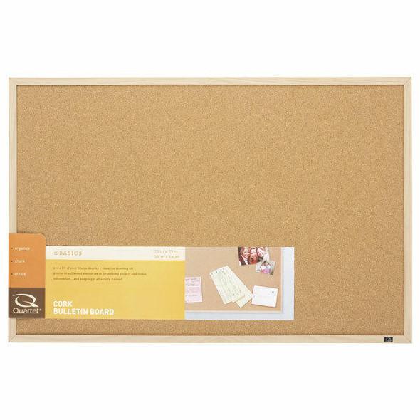 Quartet Corkboard Oak Frame 580x890mm QT35-380352Q