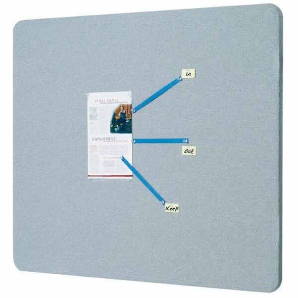Quartet Bulletin Board Fabric Oval 600x900mm Grey QT7683G