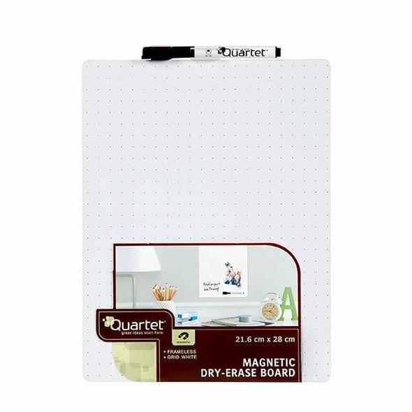 Quartet Whiteboard Tile White Grid 216x280mm X CARTON of 6 QT79552