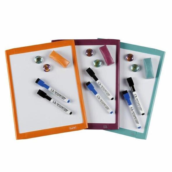 Quartet Whiteboard Basics 220x280mm Assorted V/Pack X CARTON of 4 QT85421