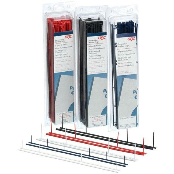 GBC Binding Strip Evb 4 Prong Black Pack25 QT9741635