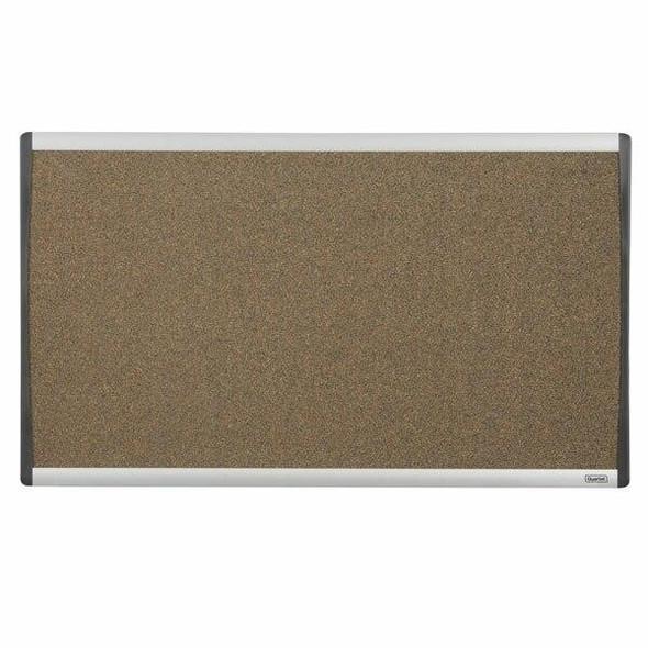 Quartet Corkboard Aluminium Arc Cubicle 460x760mm QTARCB3018