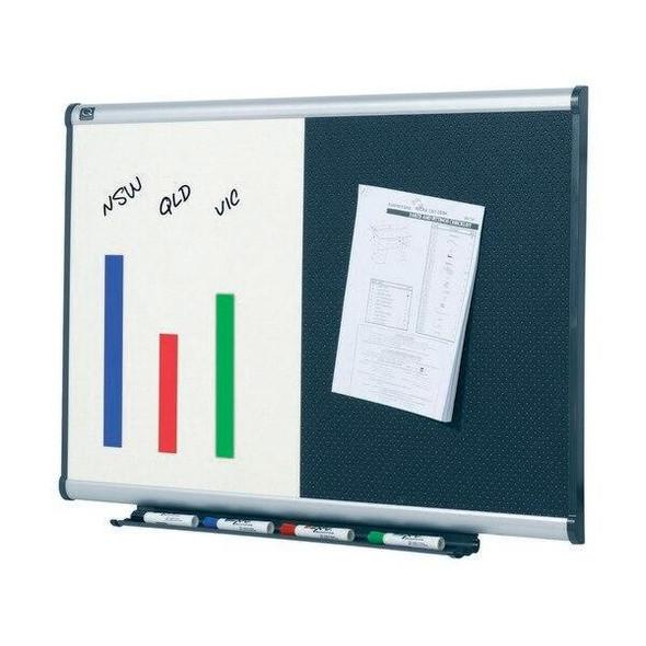 Quartet Prestige Combo Board Aluminium Frame Foam 600x900mm QTBTE643A