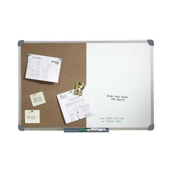 Quartet Penrite Combo Board Aluminium Frame 600x900mm S/L QTCC0906R