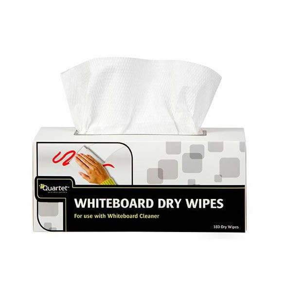 Quartet Whiteboard Dry Wipes Box180 X CARTON of 8 QTDWP80