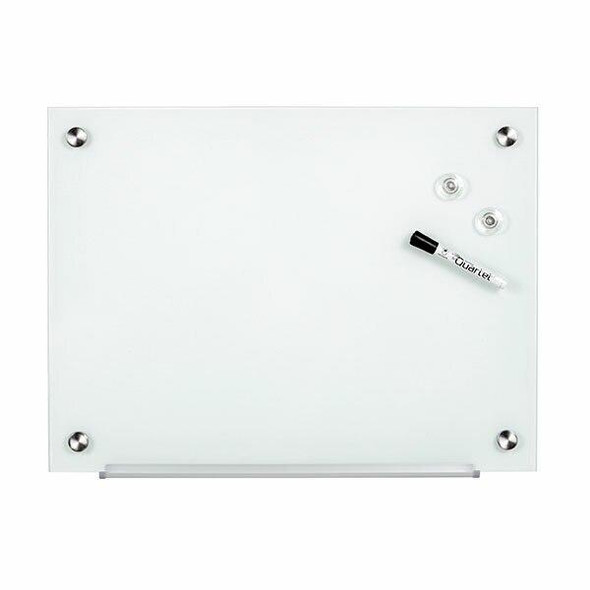 Quartet Glass Board 450x600mm White X CARTON of 2 QTG0456WH