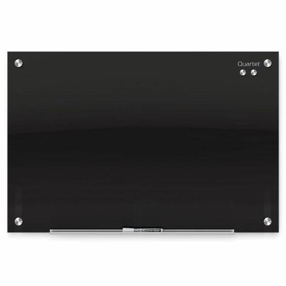 Quartet Glass Board Infinity 450x600mm Black QTG2418B