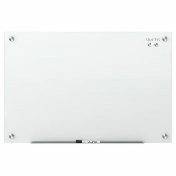 Quartet Glass Board Infinity 450x600mm White QTG2418W