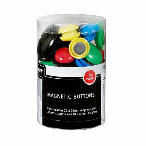 Quartet Magnet Buttons Assorted Pack50 QTMB50ASSTD